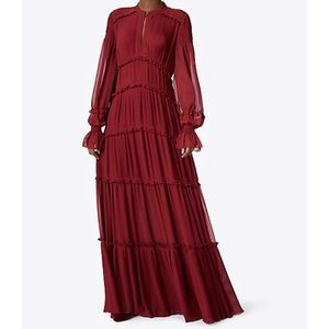 $798 TORY BURCH Stella Gown Red Cordovan 2